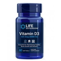Vitamina D3 5000 IU  60 Softgels LIFE Extension
