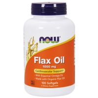 Flax Oil 1000 mg 100 Softgels NOW foods