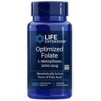 Optimized Folate 1000mcg 100 veg tablets LIFE Extension