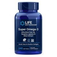 Super Omega 3 com Sesame Lignans e Olive Extract 240s LIFE Extension
