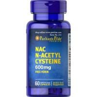 NAC 600 mg  N-Acetyl Cysteine 60 capsules PURITANS Pride