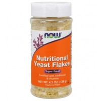 Nutritional Yeast Flakes 4.5 oz 128g NOW Foods