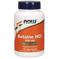 Betaine HCl 648 mg 120 Caps NOW Foods