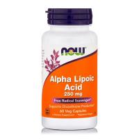 Alpha Lipoic Acid acido alfa lipoico 250 mg 60 Veg Capsules NOW Foods
