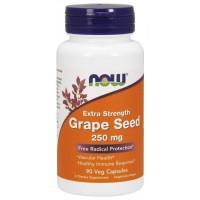 Grape Seed semente de uva Extra Strength 250 mg 90 Veg Capsules NOW Foods Vencimento 03/2021