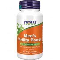Men s Virility Power poder de virilidade dos homens 60 vcaps NOW Foods