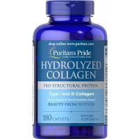 Colageno hidrolizado 1000 mg 180 caplets PURITANS Pride