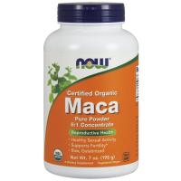 Maca Pure Powder Organica Crua em pó 198g  6.1 concentrada NOW Foods