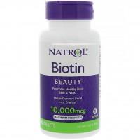 Biotina 10.000mcg 100 comprimidos NATROL