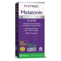 Melatonina Advanced 10mg TIME RELEASE 60 tablets NATROL (caixa)
