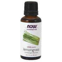 Óleo essencial de capim limão Lemongrass 1oz 30ml NOW Foods