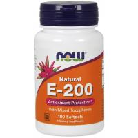 E 200 IU Mixed Tocopherols 100 Softgels NOW Foods