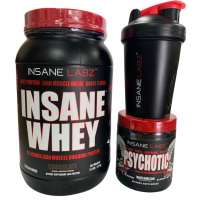 Whey Protein Chocolate + Psychotic Red + coqueteleira