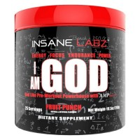 I am God 25 servings 298g INSANE Labz
